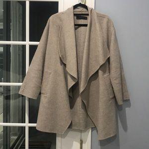 Zara oversized open flowy beige sweater/coat